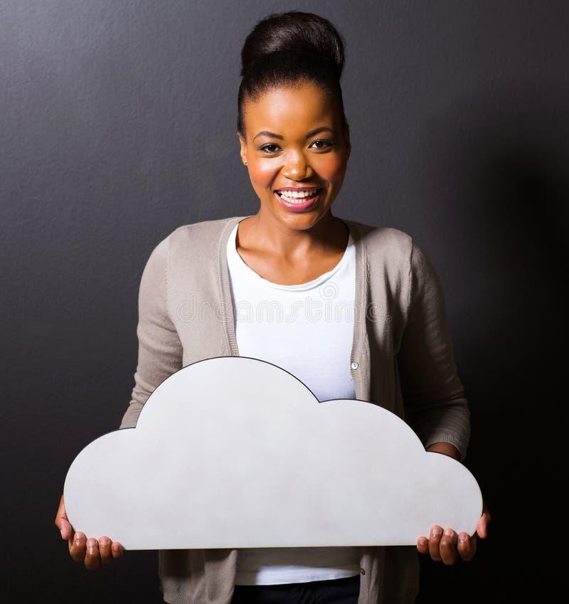 Nube africana de la muchacha foto de archivo libre de regalías