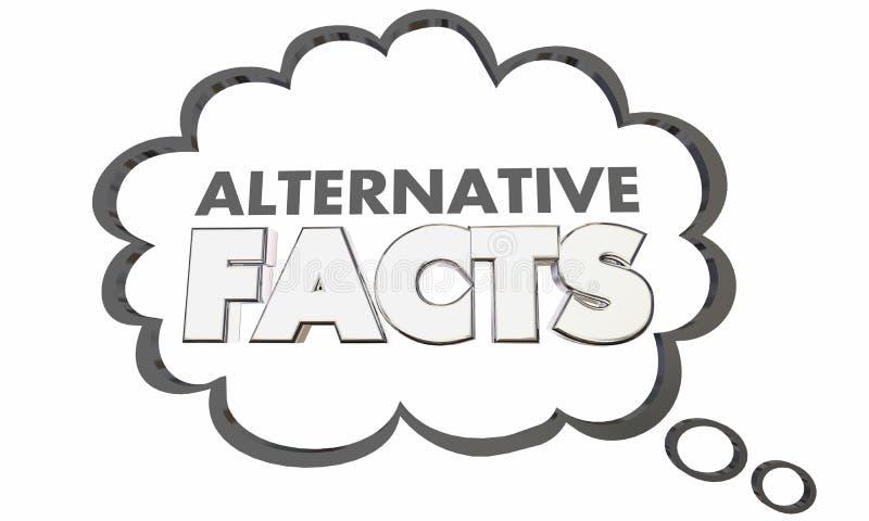 Nube alternativa del pensamiento de la información del mal de Mistruths de las mentiras de los hechos libre illustration