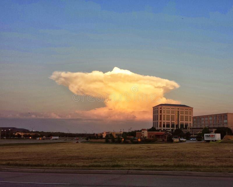 Nube atómica fotografía de archivo
