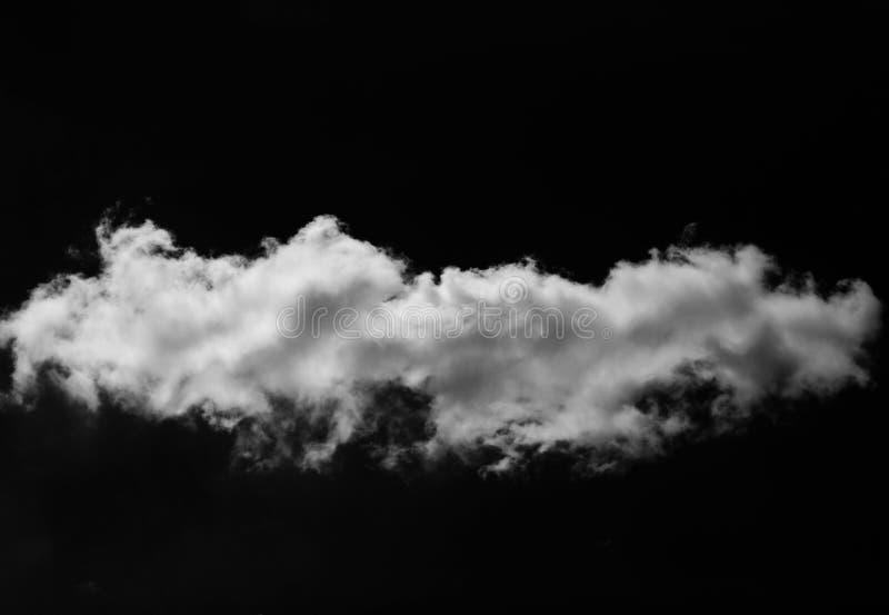 Nube bianca sul nero fotografie stock