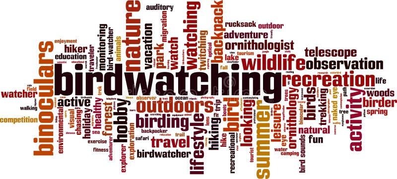 Nube Birdwatching de la palabra libre illustration