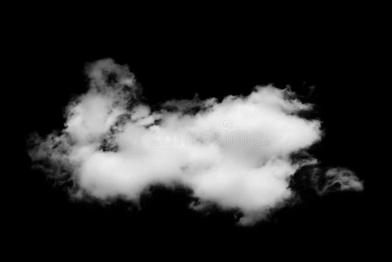 Nube blanca aislada en negro fotos de archivo