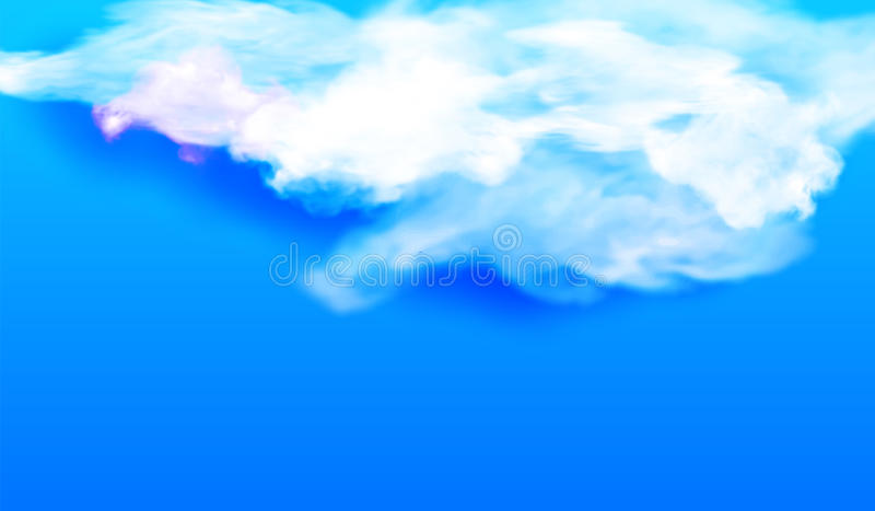 Nube blanca contra el cielo azul Ilustración del vector ilustración del vector