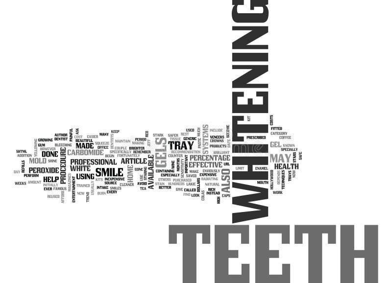 Nube blanca de la palabra de los dientes en casa stock de ilustración