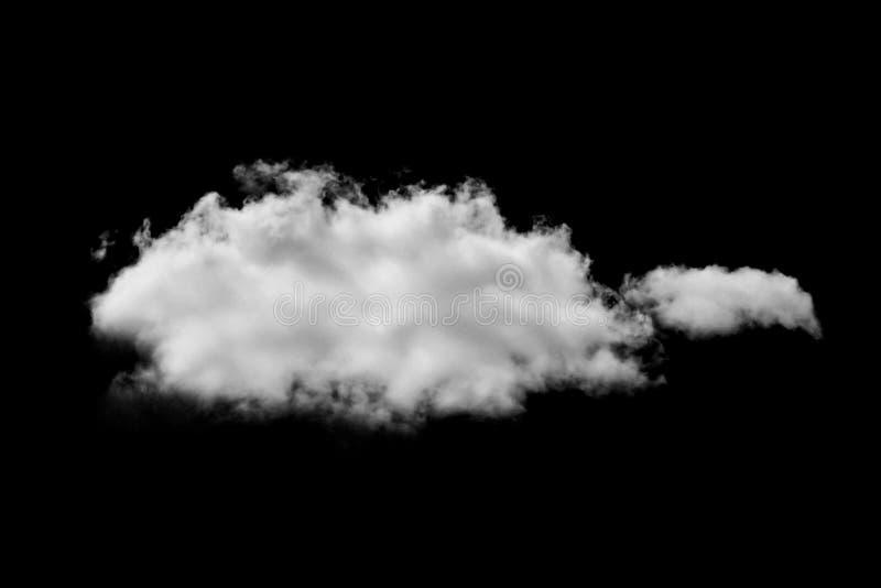 Nube blanca en negro imagen de archivo libre de regalías