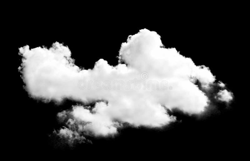 Nube blanca en negro imagenes de archivo