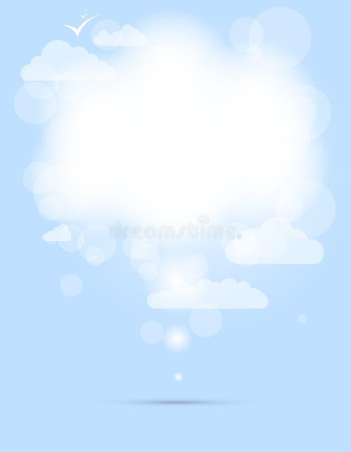 Nube brillante blanca del discurso abstracto stock de ilustración