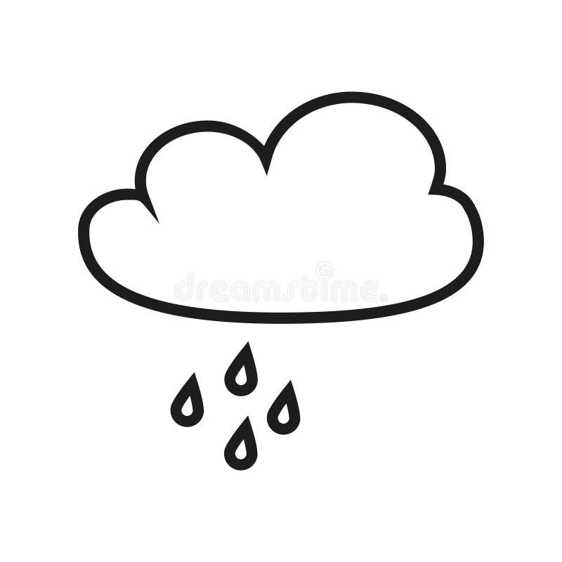 Nube con el icono de la lluvia ilustración del vector