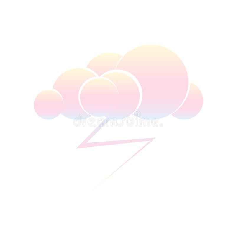 Nube con el rel?mpago de la tormenta stock de ilustración