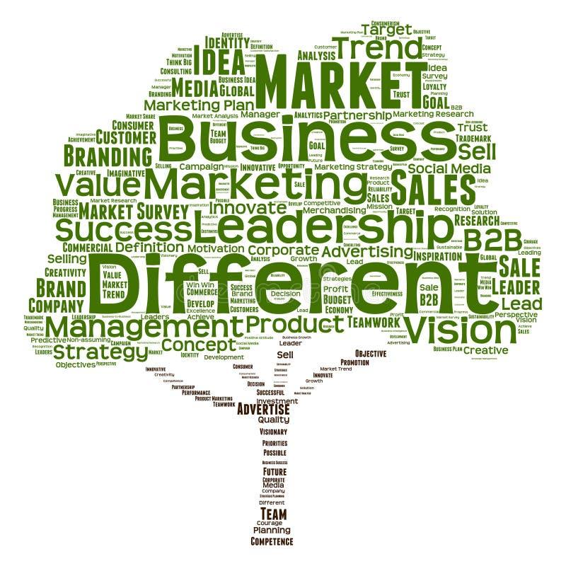 Nube conceptual de la palabra de la dirección del negocio libre illustration