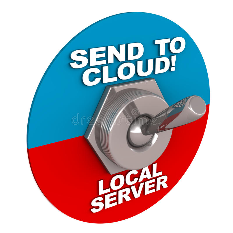 Nube contra local stock de ilustración