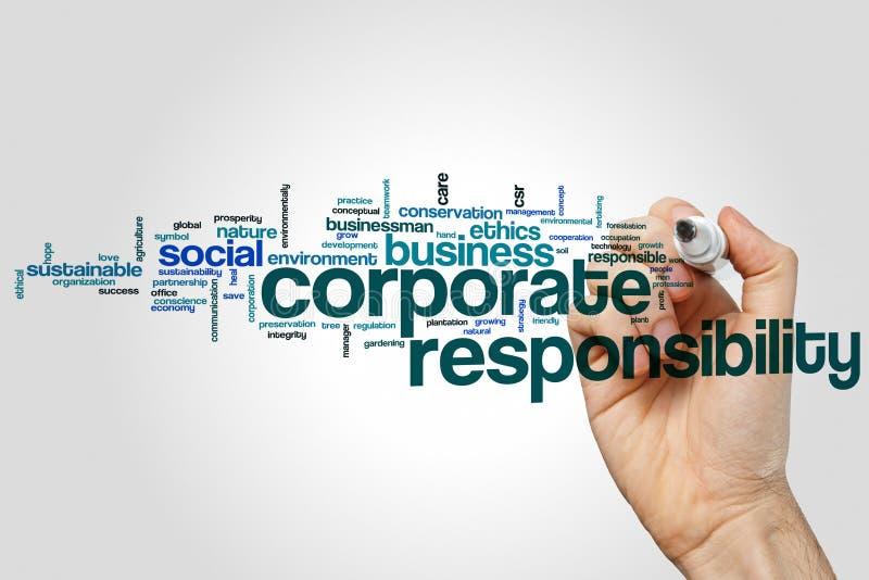 Nube corporativa de la palabra de la responsabilidad imagenes de archivo