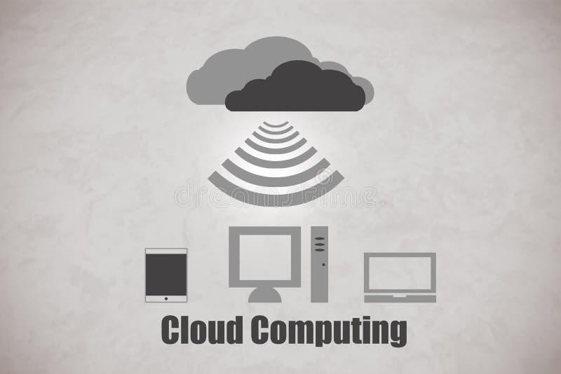Nube Cpmputing fotografía de archivo