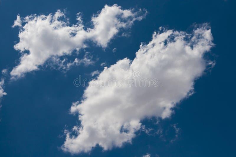 Nube de cúmulo blanca hinchada aislada en un azul claro imagen de archivo libre de regalías