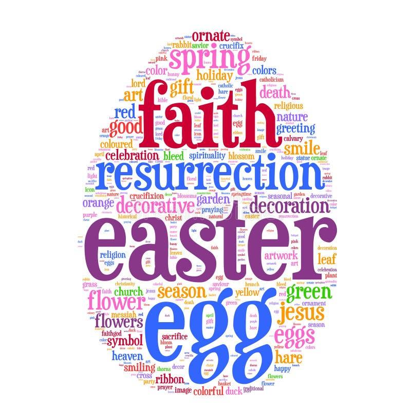 Nube de la etiqueta del huevo de Pascua libre illustration