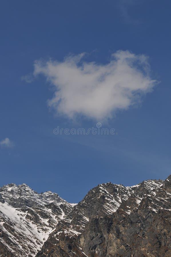 Nube de la forma del corazón fotografía de archivo
