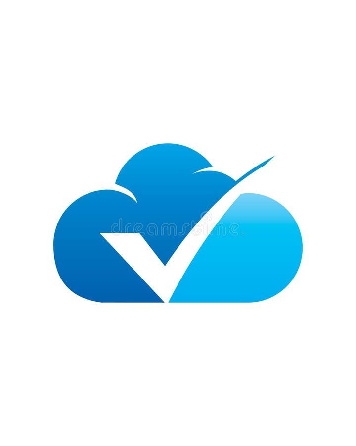 Nube de la marca de cotejo stock de ilustración