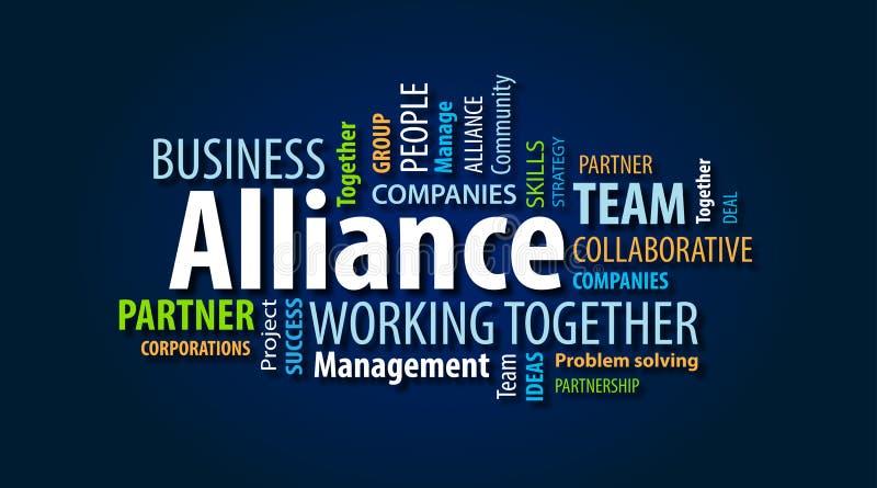Nube de la palabra de Alliance stock de ilustración