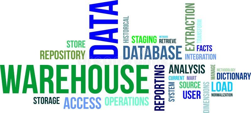 Nube de la palabra - almacén de datos ilustración del vector