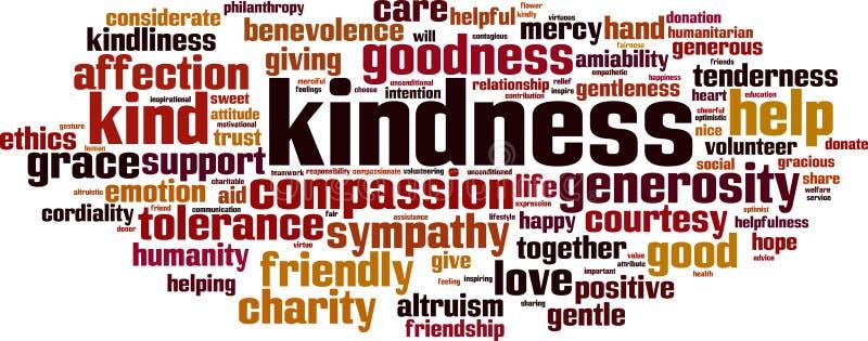 Nube de la palabra de la amabilidad libre illustration