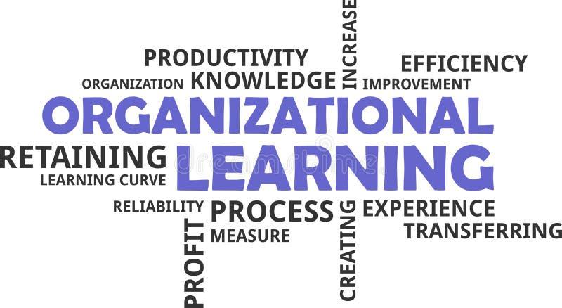 Nube de la palabra - aprendizaje de organización ilustración del vector