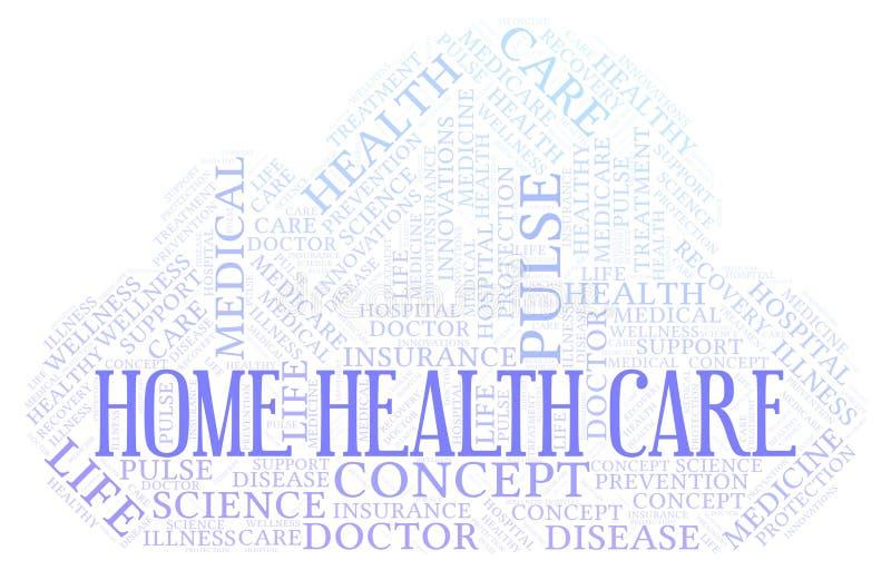 Nube de la palabra de la atención sanitaria a domicilio stock de ilustración