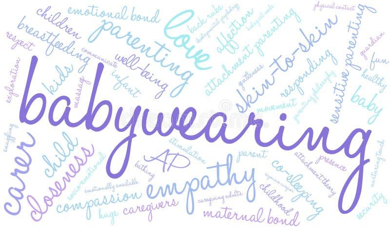 Nube de la palabra de Babywearing ilustración del vector