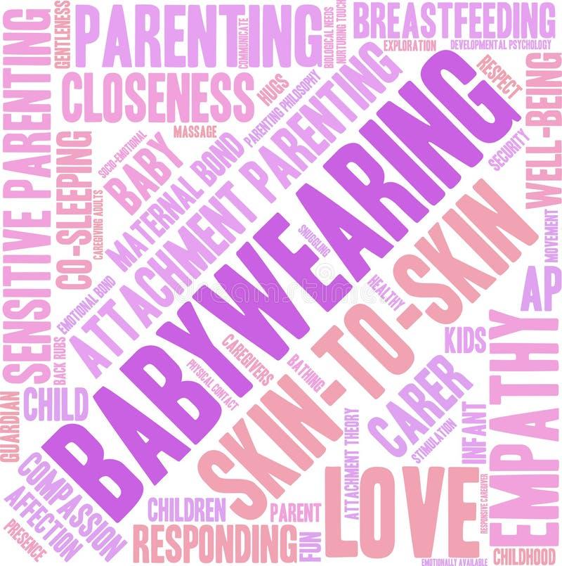 Nube de la palabra de Babywearing libre illustration