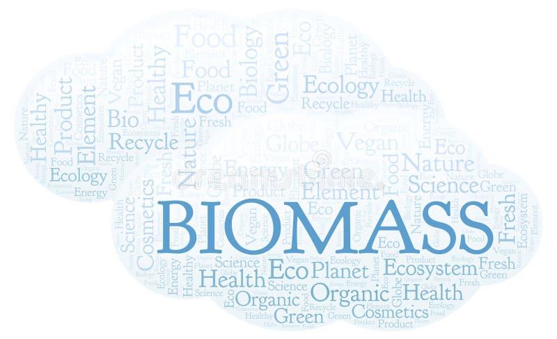 Nube de la palabra de la biomasa stock de ilustración