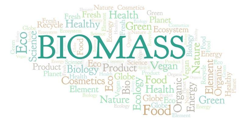 Nube de la palabra de la biomasa libre illustration
