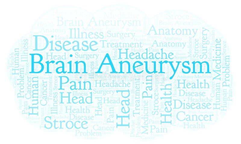 Nube de la palabra de Brain Aneurysm ilustración del vector