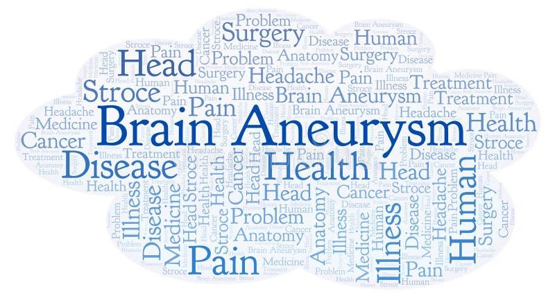 Nube de la palabra de Brain Aneurysm stock de ilustración