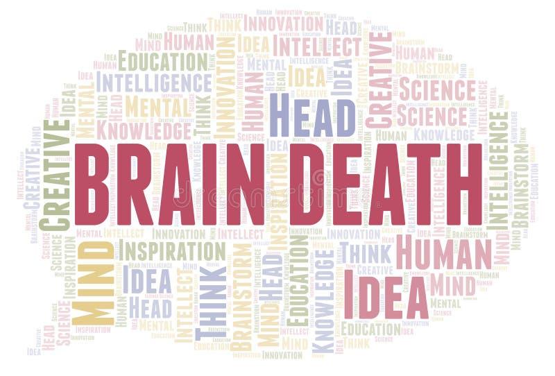 Nube de la palabra de Brain Death ilustración del vector