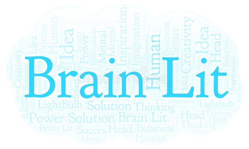 Nube de la palabra de Brain Lit ilustración del vector