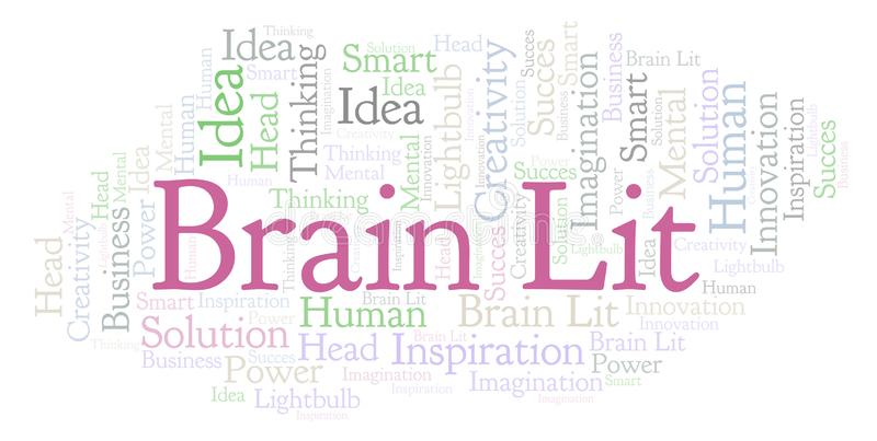 Nube de la palabra de Brain Lit libre illustration