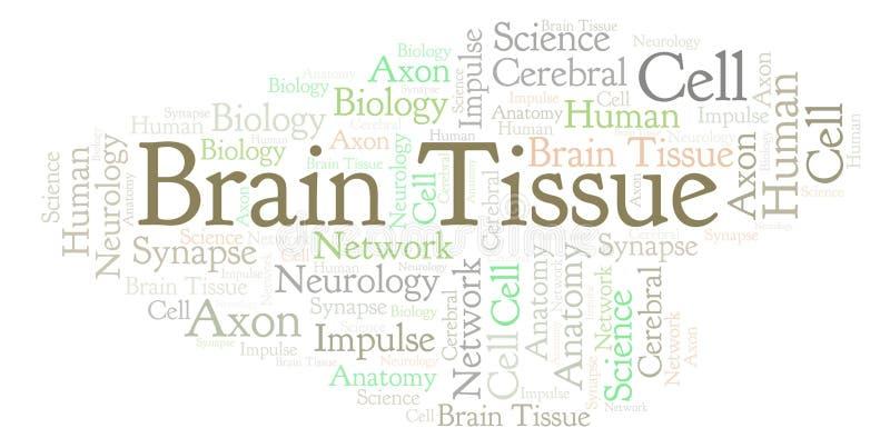 Nube de la palabra de Brain Tissue stock de ilustración