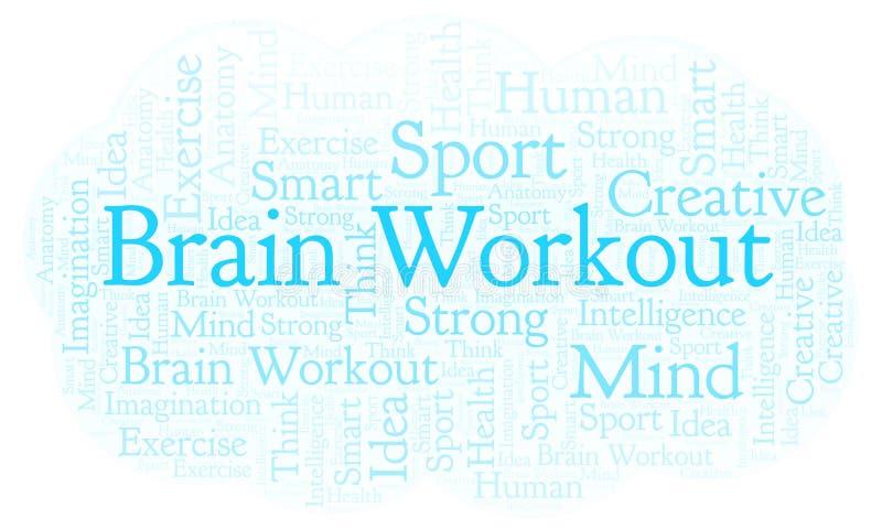 Nube de la palabra de Brain Workout stock de ilustración