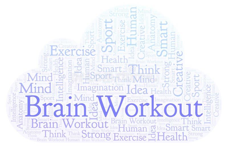 Nube de la palabra de Brain Workout libre illustration