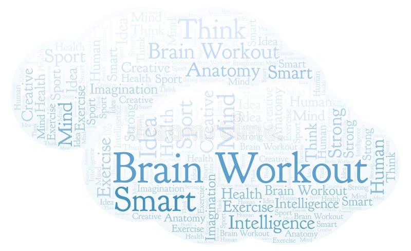 Nube de la palabra de Brain Workout ilustración del vector