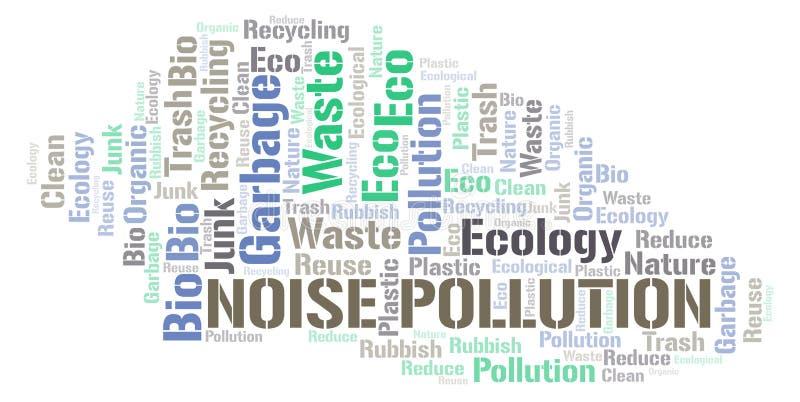 Nube de la palabra de la contaminación acústica ilustración del vector