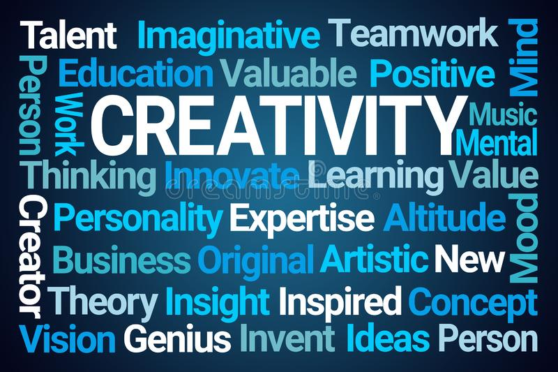 Nube de la palabra de la creatividad stock de ilustración
