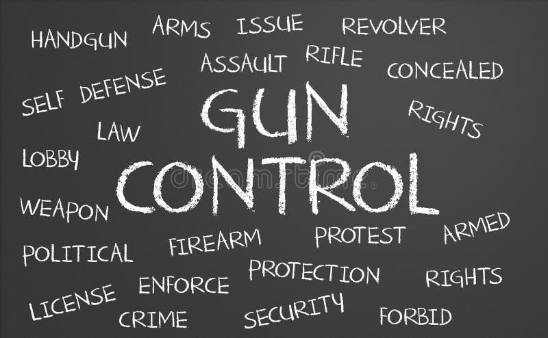 Nube de la palabra de control de armas libre illustration