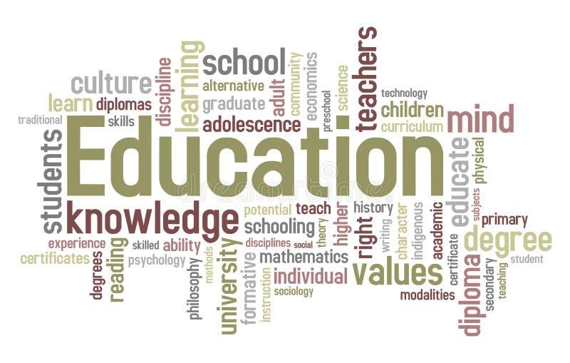 Nube de la palabra de la educación libre illustration