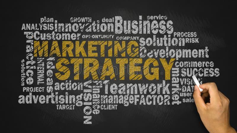 Nube de la palabra de la estrategia de marketing fotografía de archivo