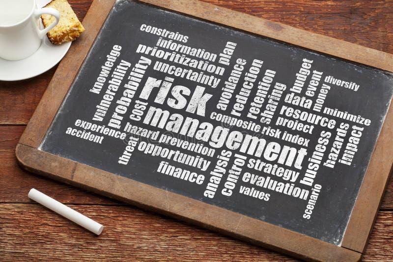 Nube de la palabra de la gestión de riesgos fotografía de archivo libre de regalías