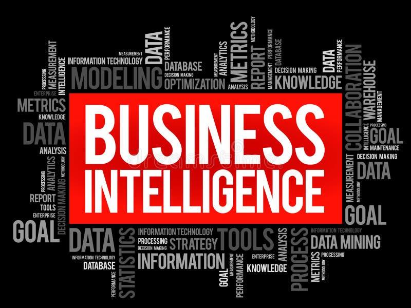 Nube de la palabra de la inteligencia empresarial libre illustration