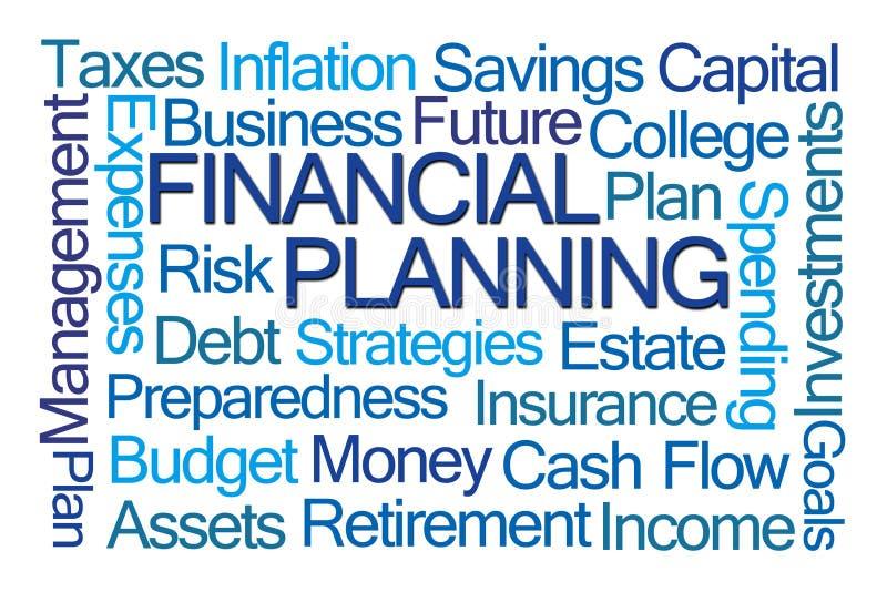 Nube de la palabra de la planificación financiera stock de ilustración