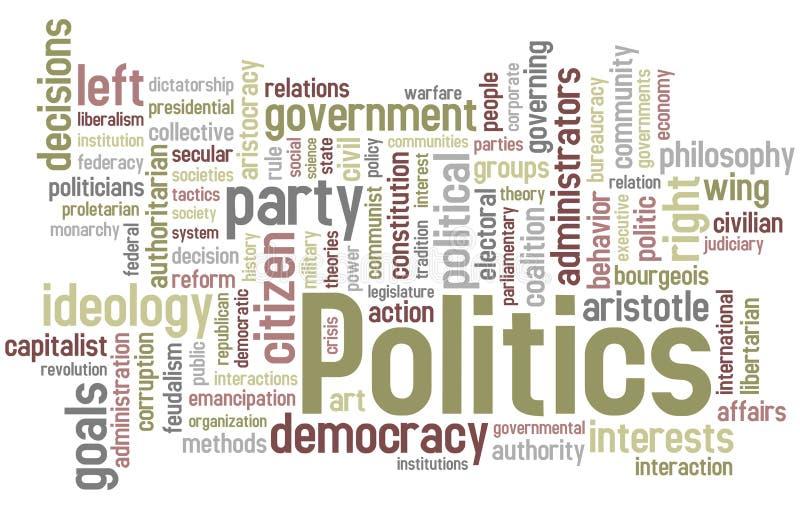 Nube de la palabra de la política ilustración del vector