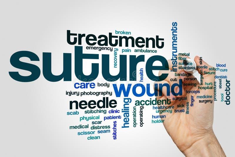 Nube de la palabra de la sutura imágenes de archivo libres de regalías