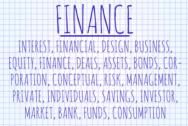 Nube de la palabra de las finanzas libre illustration